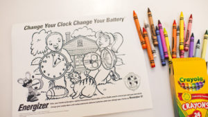 Change Your Clock, Change Your Battery coloring book