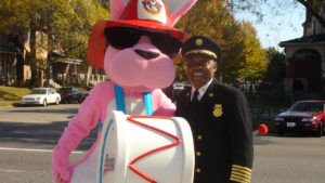 Fire Commissioner with Energizer Bunny
