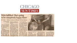 Chicago Sun Times newspaper clipping from the Broyhill public relations campaign