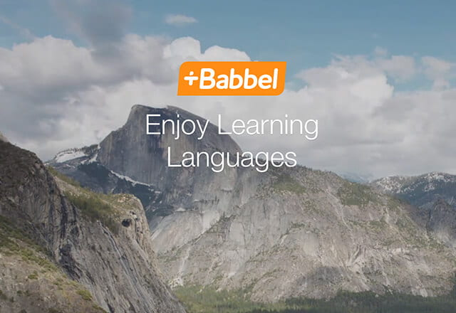 Babbel marketing artwork