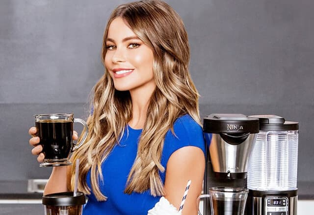 Sophia Vergara with Ninja Coffee Maker
