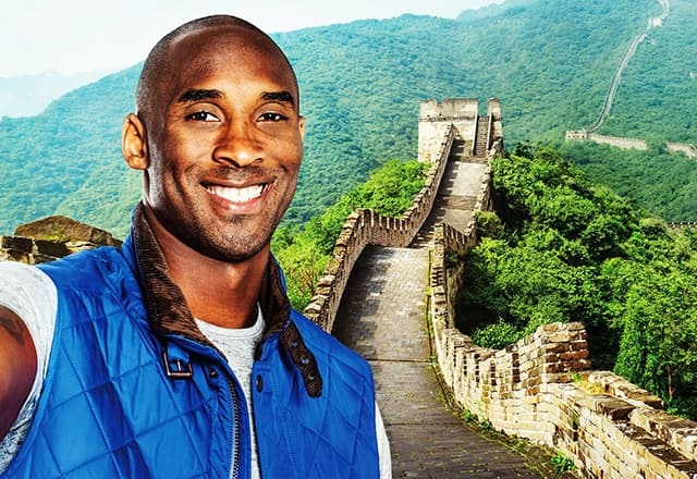 Kobe Bryant and the Great Wall of China